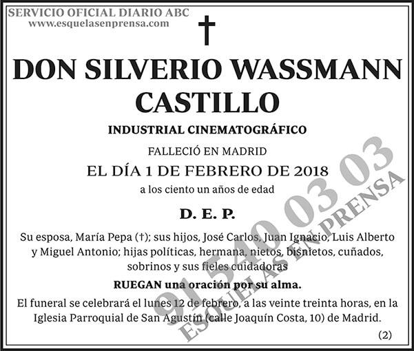 Silverio Wassmann Castillo